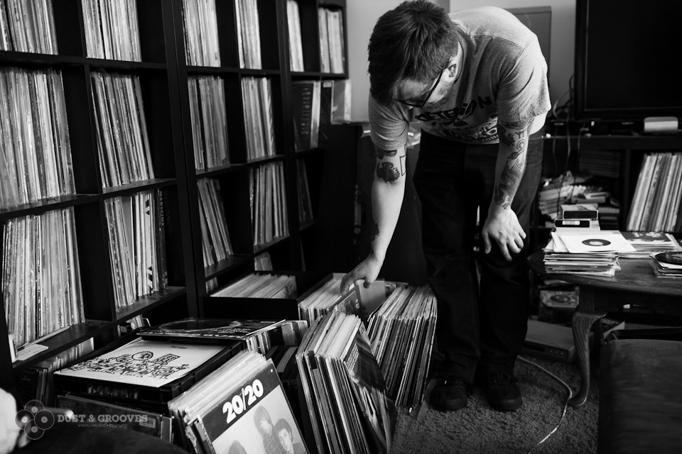 Jeff Ogiba, Brooklyn, NY ; A record dealer and collector, co -owner of Black Gold Records in Brooklyn, NY. Photographed for Dust & Grooves, a vinyl collecting book. © All rights reserved. www.dustandgrooves.com