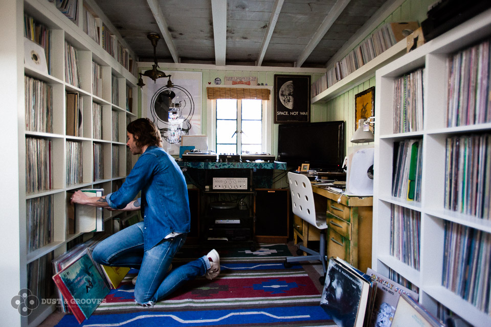 Zach Cowie, a vinyl record collector photographed in his home in Los Angeles, CA for Dust & Grooves, a vinyl photo site. All rights reserved to Eilon Paz - www.dustandgrooves.com