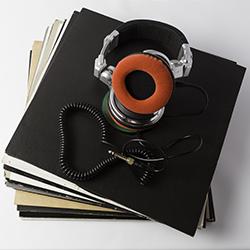 Disque vinyle casque audio
