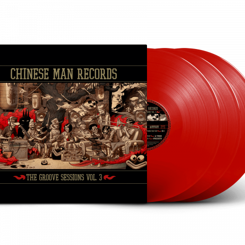 Chinese man groove session 3 vinyle rouge